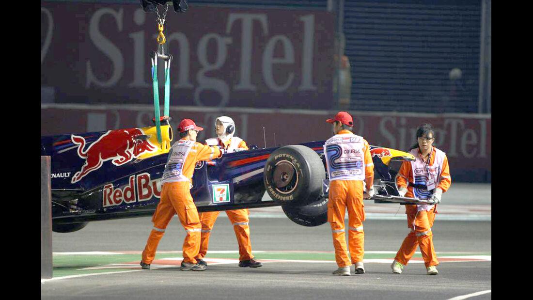 Mark Webber 2009 GP Singapur