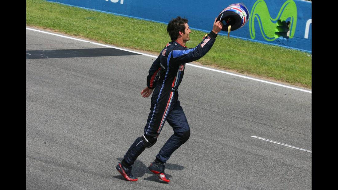 Mark Webber 2010 GP Spanien