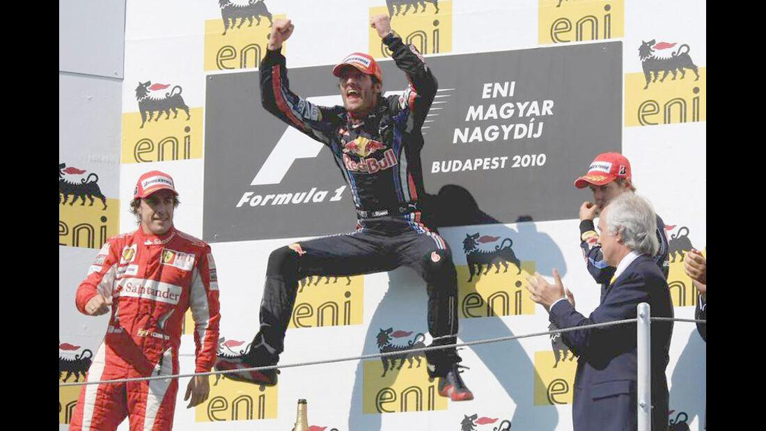 Mark Webber 2010 GP Ungarn