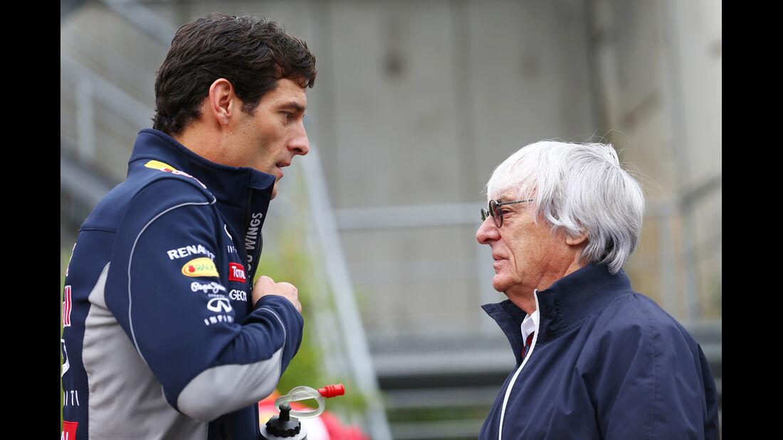 Mark Webber & Bernie Ecclestone - Formel 1 - GP Belgien - Spa-Francorchamps - 24. August