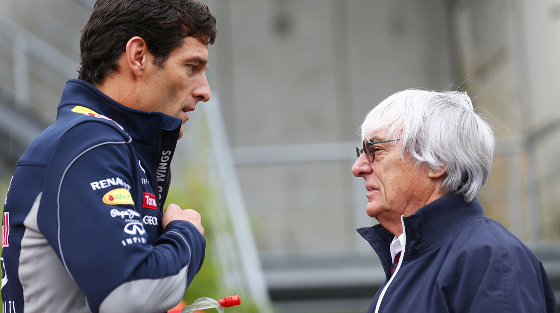 Mark Webber & Bernie Ecclestone - Formel 1 - GP Belgien - Spa-Francorchamps - 24. August
