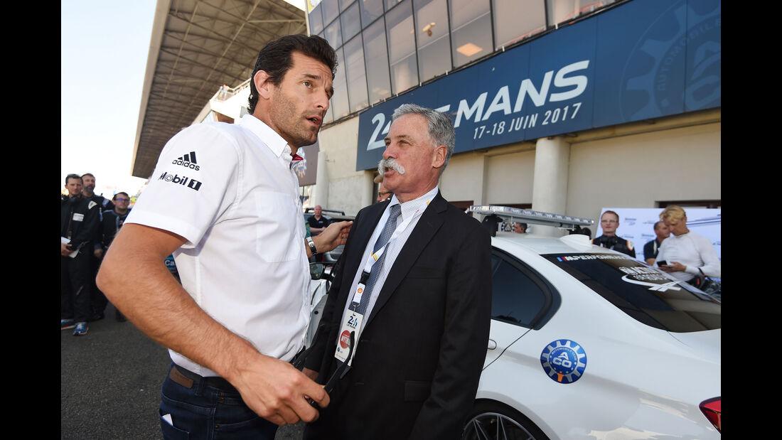 Mark Webber - Chase Carey - 24h-Rennen Le Mans 2017 - Smastag - 17.6.2017