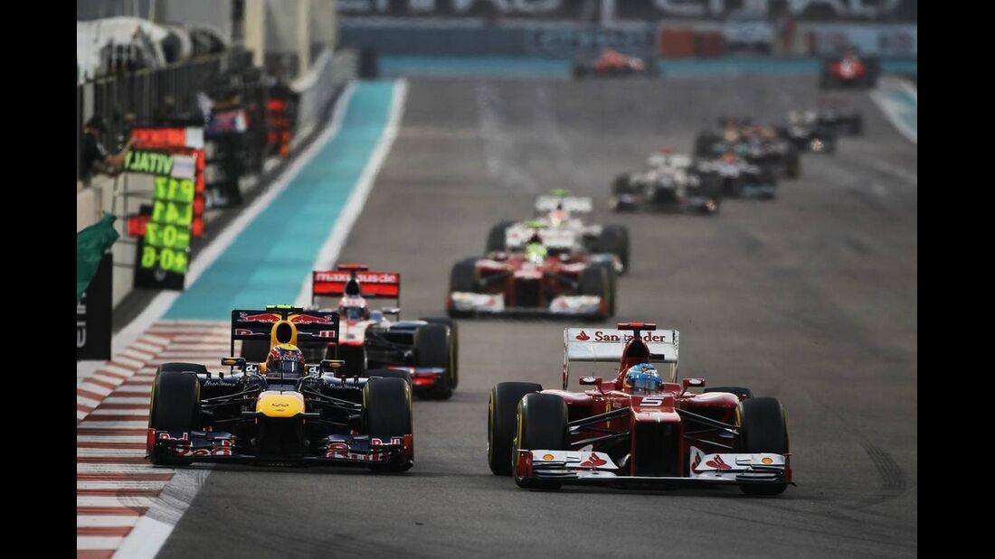 Mark Webber Fernando Alonso  - Formel 1 - GP Abu Dhabi - 04. November 2012
