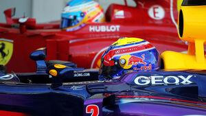 Mark Webber & Fernando Alonso - GP Japan 2013