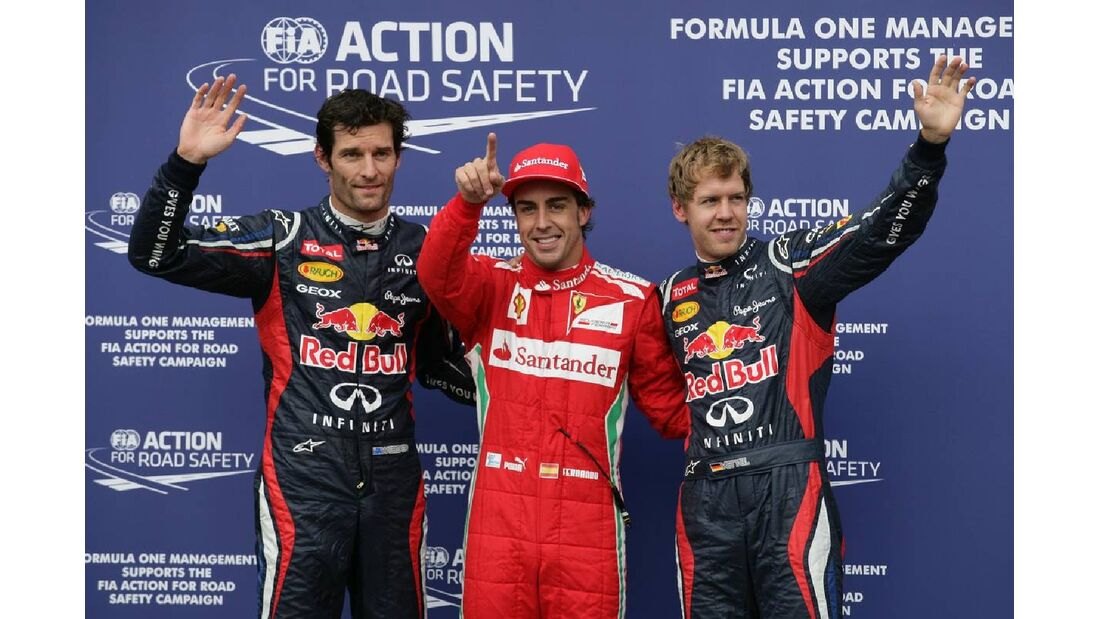 Mark Webber Fernando Alonso Sebastian Vettel - Formel 1 - GP Deutschland - 21. Juli 2012