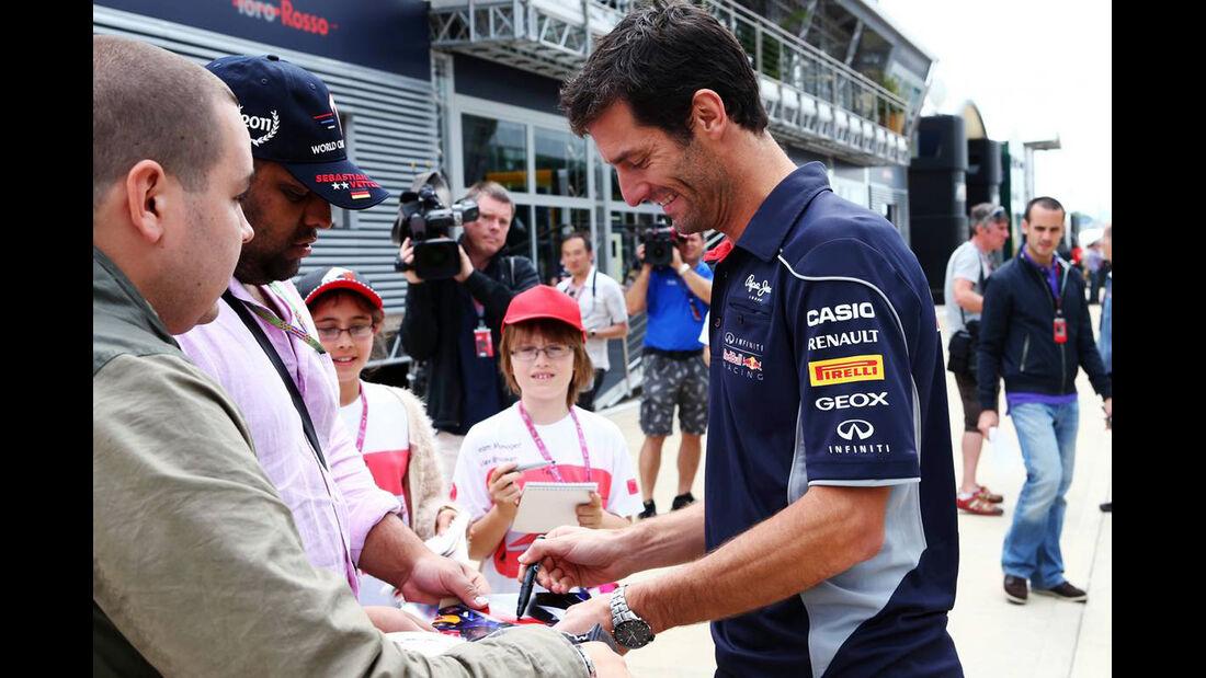 Mark Webber - Formel 1 - GP England - 27. Juni 2013