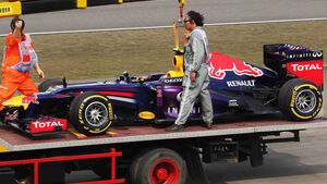 Mark Webber GP China 2013 Ausfall Qualifying