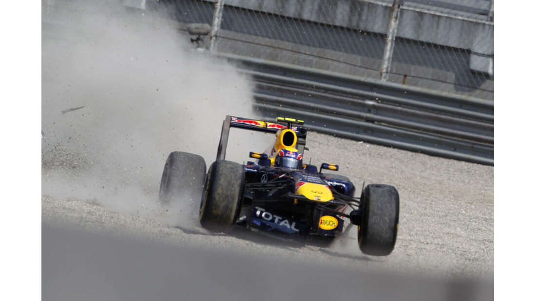 Mark Webber GP Italien Crashs 2011