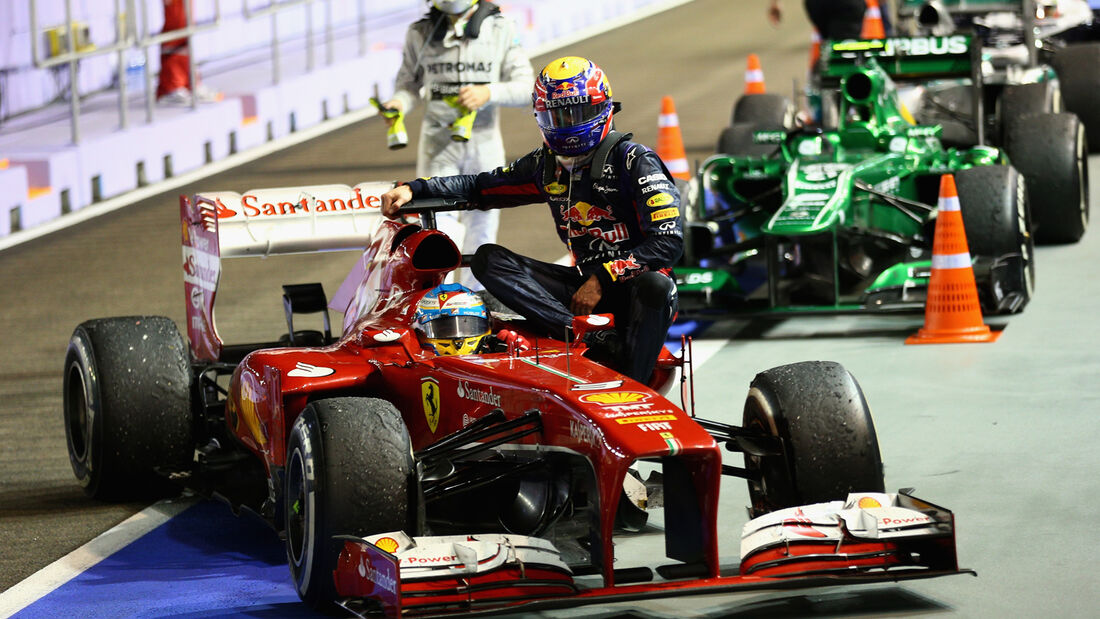 Mark Webber GP Singapur 2013