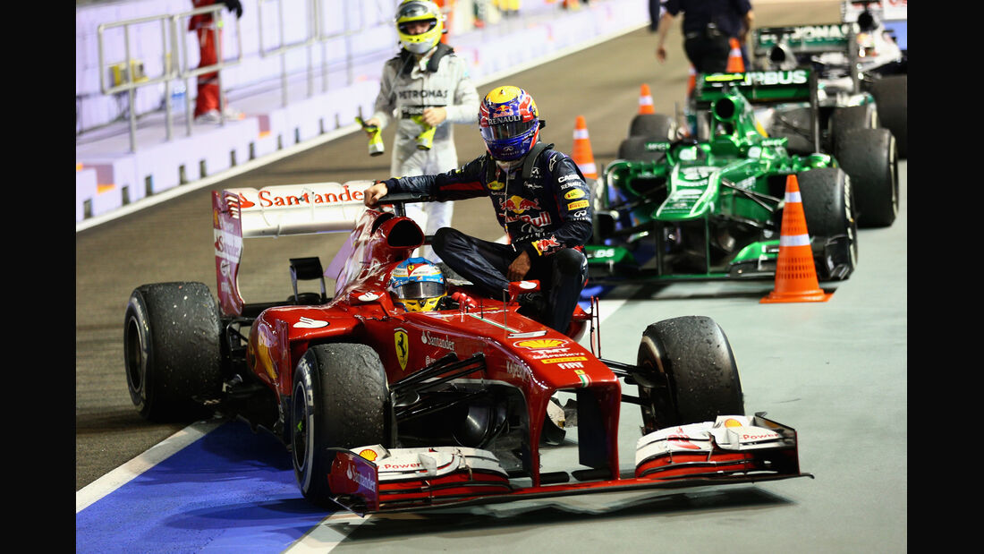 Mark Webber GP Singapur 2013