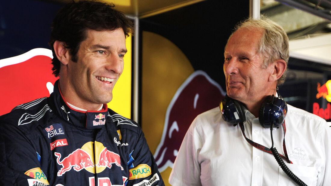 Mark Webber Helmut Marko F1
