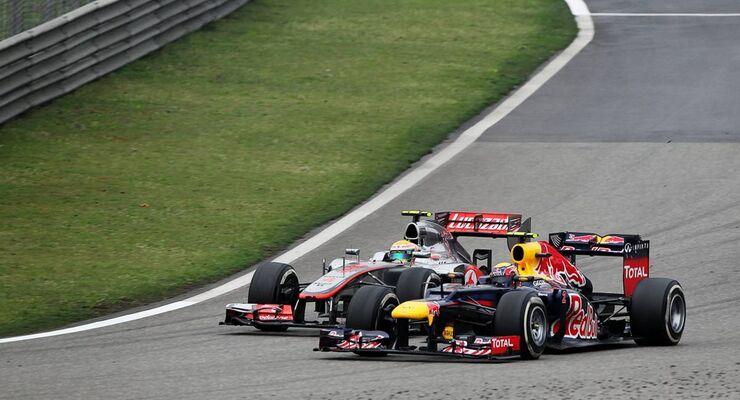 Mark Webber - Lewis Hamilton  - Formel 1 - GP China - 15. April 2012