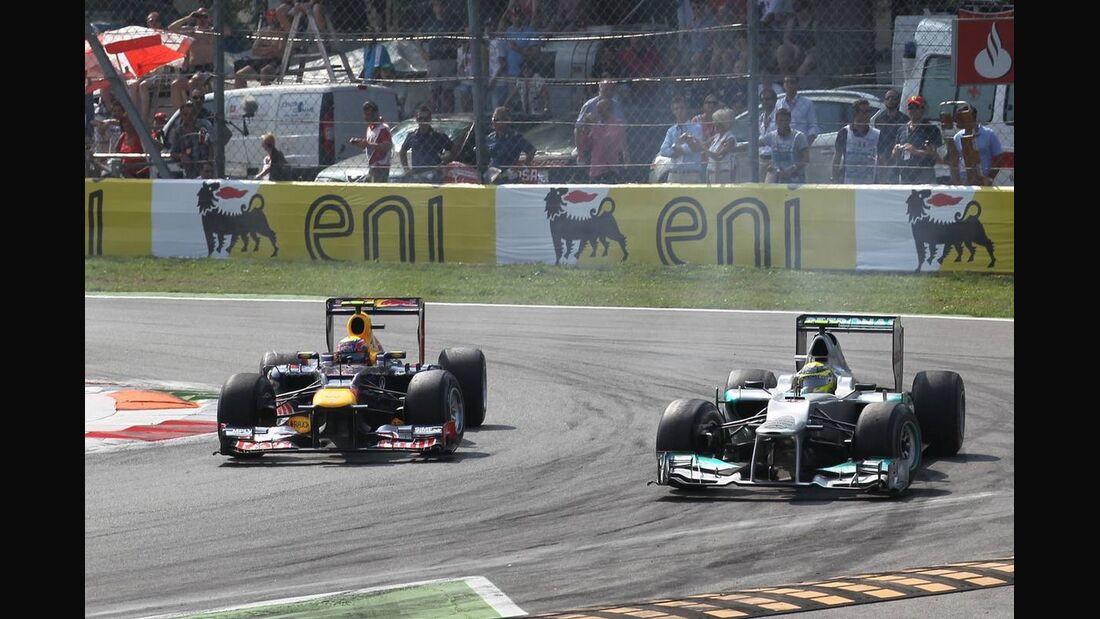 Mark Webber Nico Rosberg - Formel 1 - GP Italien - 09. September 2012
