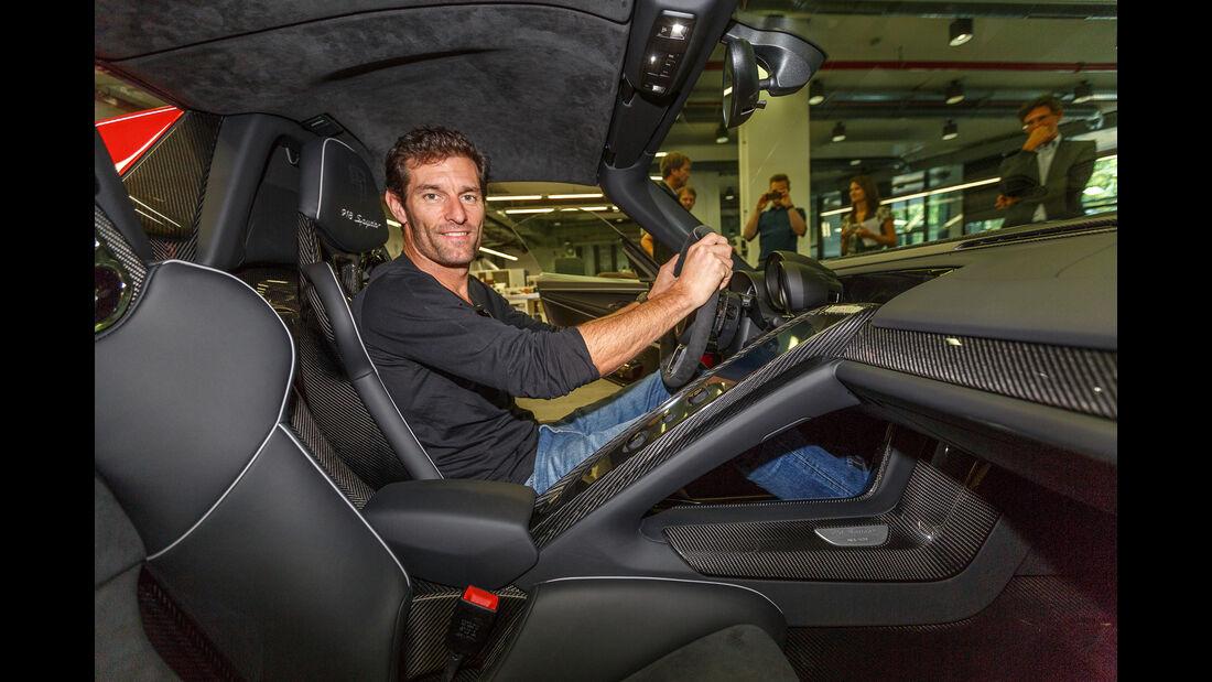 Mark Webber - Porsche 918 Spyder - Zuffenhausen 2015