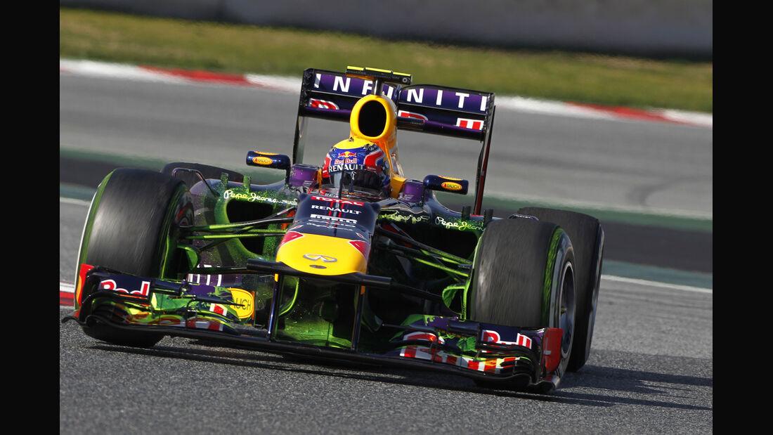 Mark Webber Red Bull F1 Test Barcelona 2013