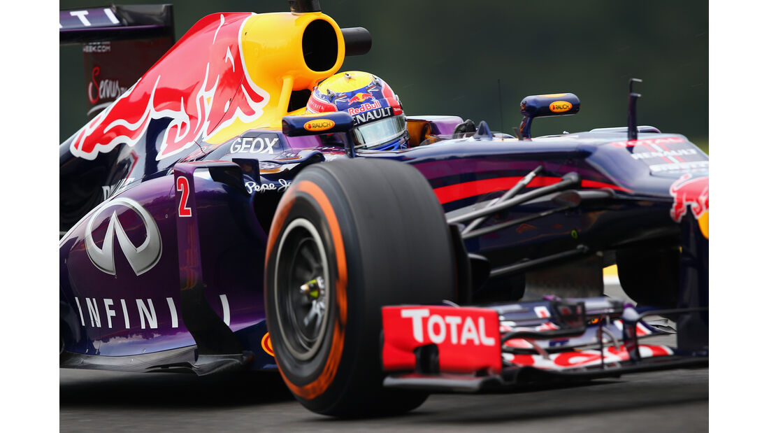 Mark Webber - Red Bull - Formel 1 - GP Belgien - Spa Francorchamps - 23. August 2013