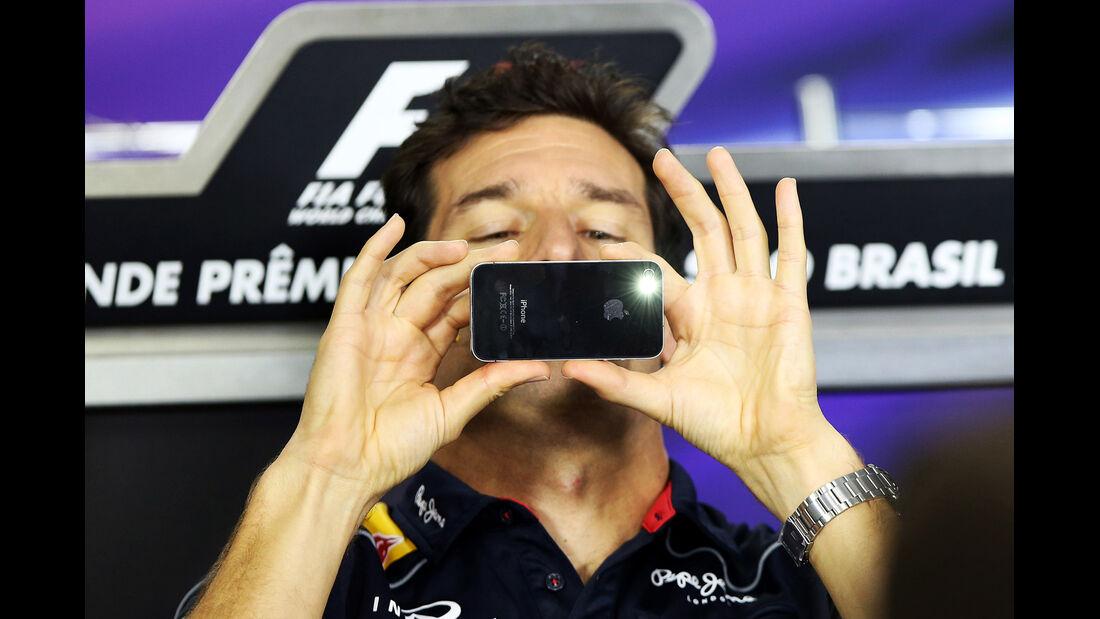 Mark Webber - Red Bull - Formel 1 - GP Brasilien - 21. November 2013