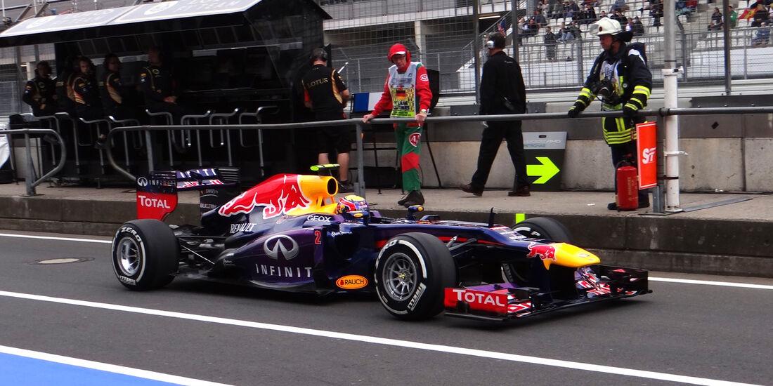 Mark Webber - Red Bull - Formel 1 - GP Deuschland - 5. Juli 2013