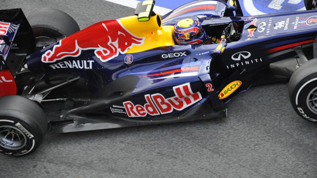 Mark Webber - Red Bull - Formel 1-Test Barcelona - 3. März 2012