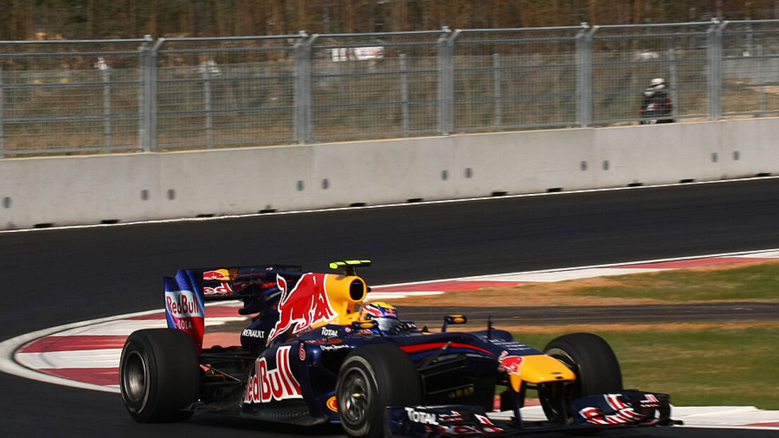Mark Webber Red Bull GP Korea 2010