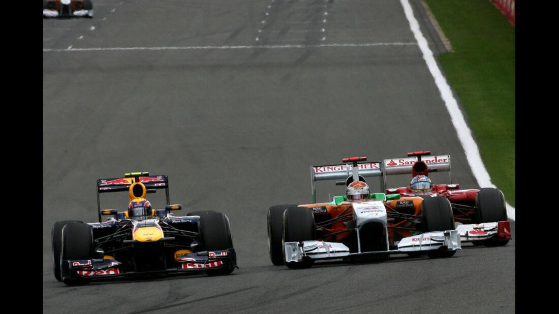 Mark Webber Rennen GP Belgien 2011