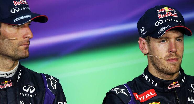 Mark Webber Sebastian Vettel GP Malyasia 2013