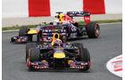 Mark Webber - Sebastian Vettel - Red Bull - Formel 1 - GP Spanien - 10. Mai 2013