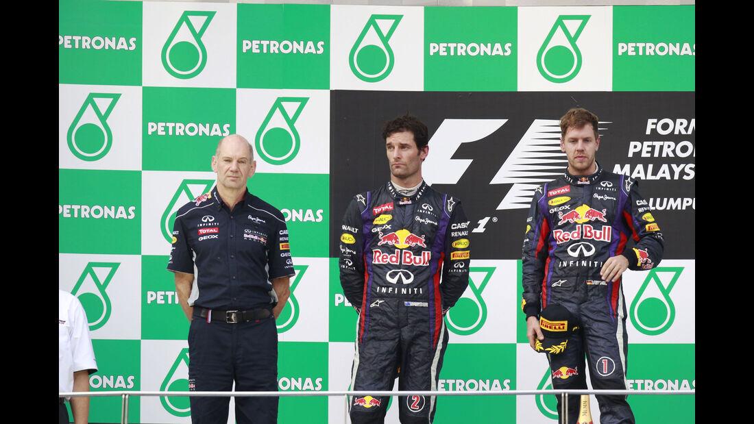 Mark Webber - Sebastian Vettel - Red Bull - GP Malaysia 2013