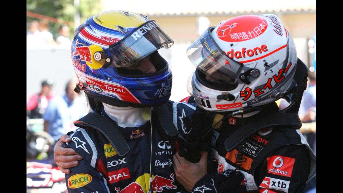 Mark Webber und Jenson Button