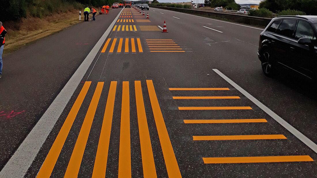 Markierungsfolien Autobahn