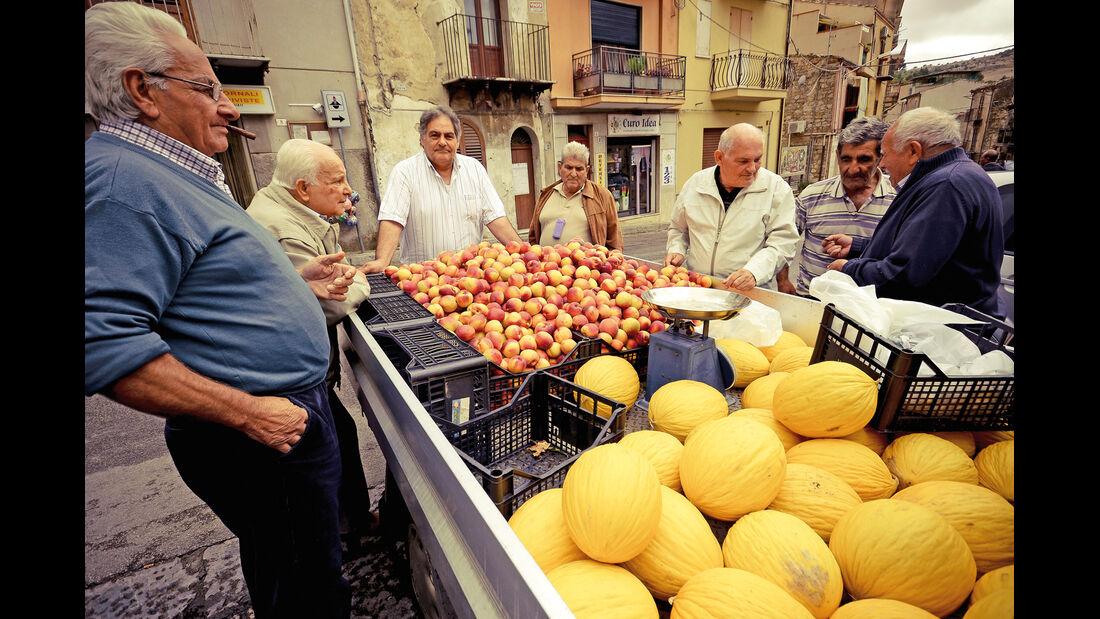 Markt, Obststand