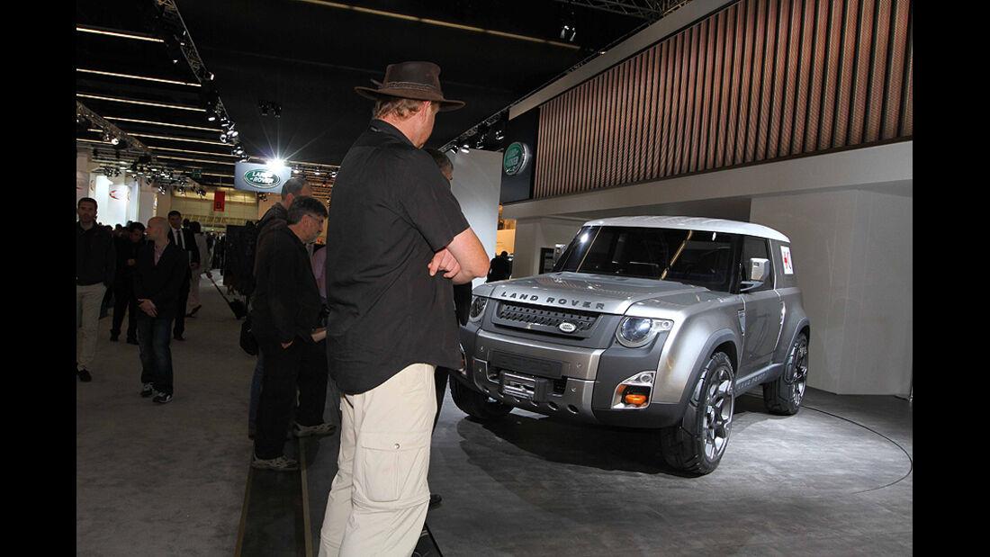 Markus Stier, Land Rover Defender auf der IAA 2011