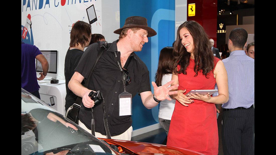 Markus Stier bei Fiat auf der IAA 2011