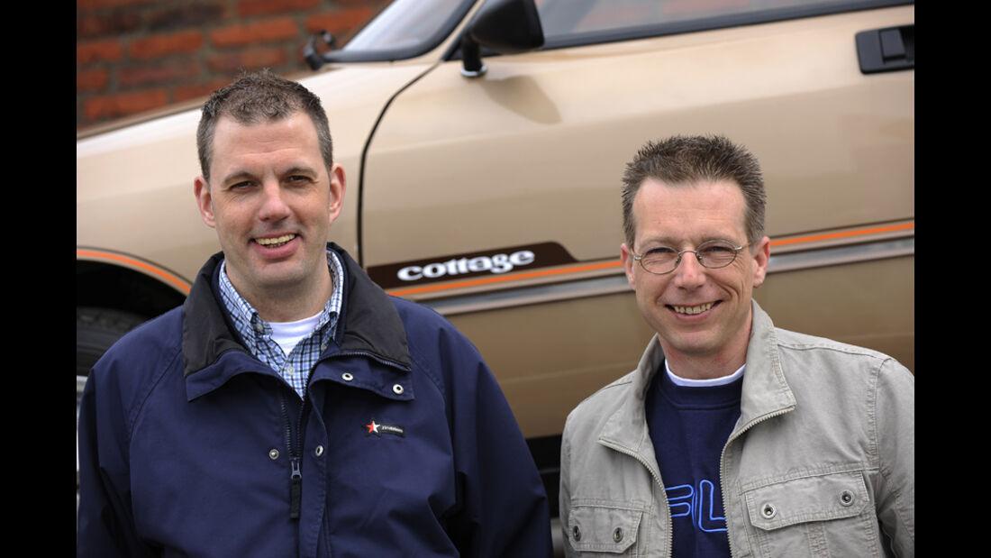Markus la Tendresse und Edgar Mönninghoff vor Citroen GSA Break Cottage
