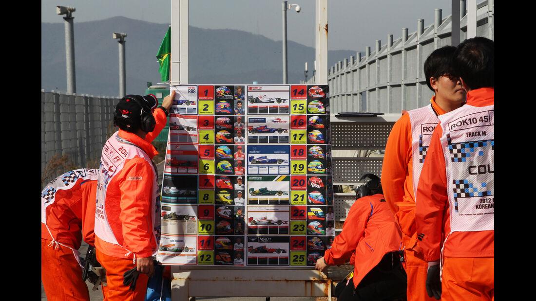 Marshalls - Formel 1 - GP Korea - 12. Oktober 2012