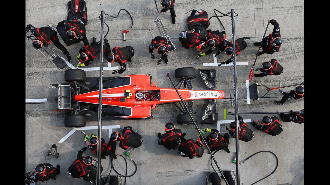 Marussia - Boxenstopp - Formel 1 2013