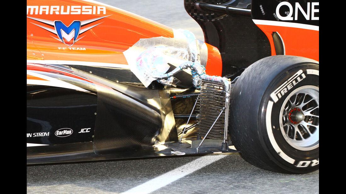 Marussia MR02 Auspuff F1 2013