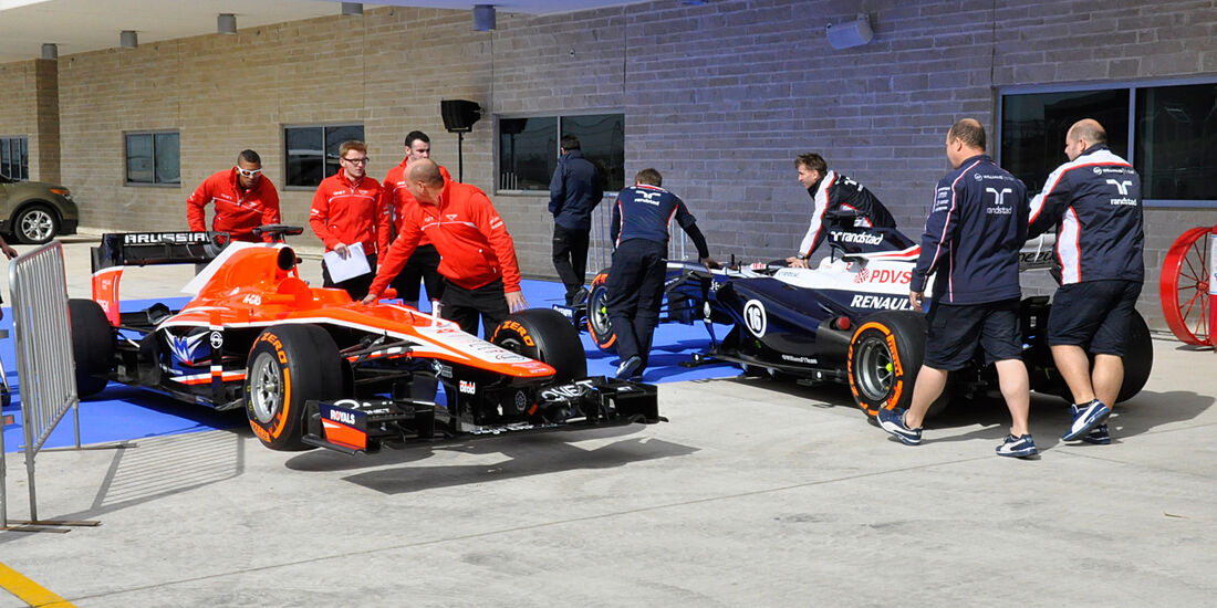 Marussia & Williams - Formel 1 - GP USA - 14. November 2013