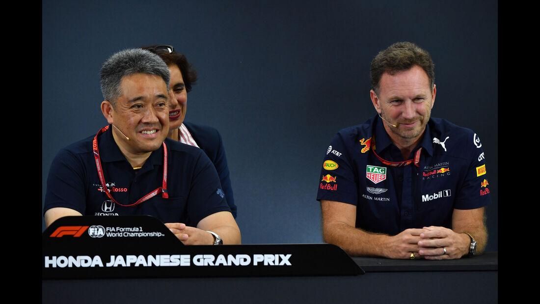 Masashi Yamamoto - Honda - Christian Horner - Red Bull - GP Japan - Suzuka - Formel 1 - Freitag - 5.10.2018