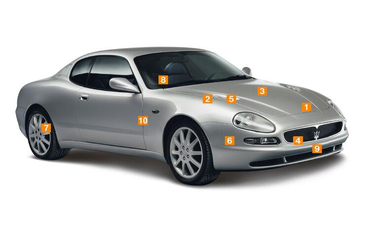 Maserati 3200 GT, Schwachpunkte, Igelbild