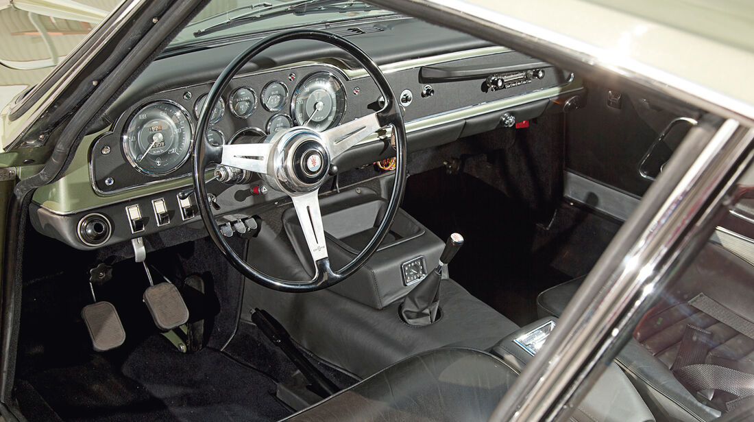 Maserati 3500 GTI S Sebring, Cockpit, Lenkrad