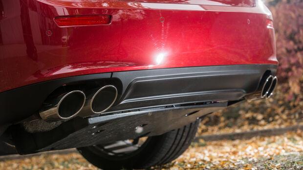 Maserati Ghibli, Auspuff, Endrohre