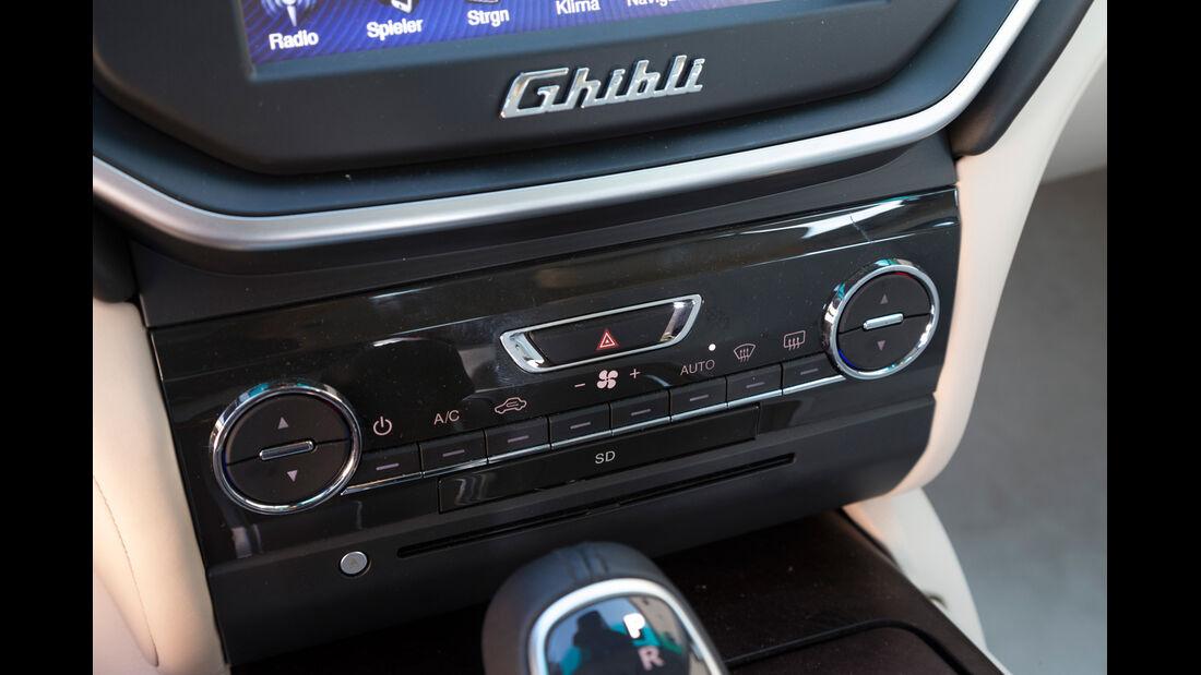 Maserati Ghibli Diesel, Bedienelemente