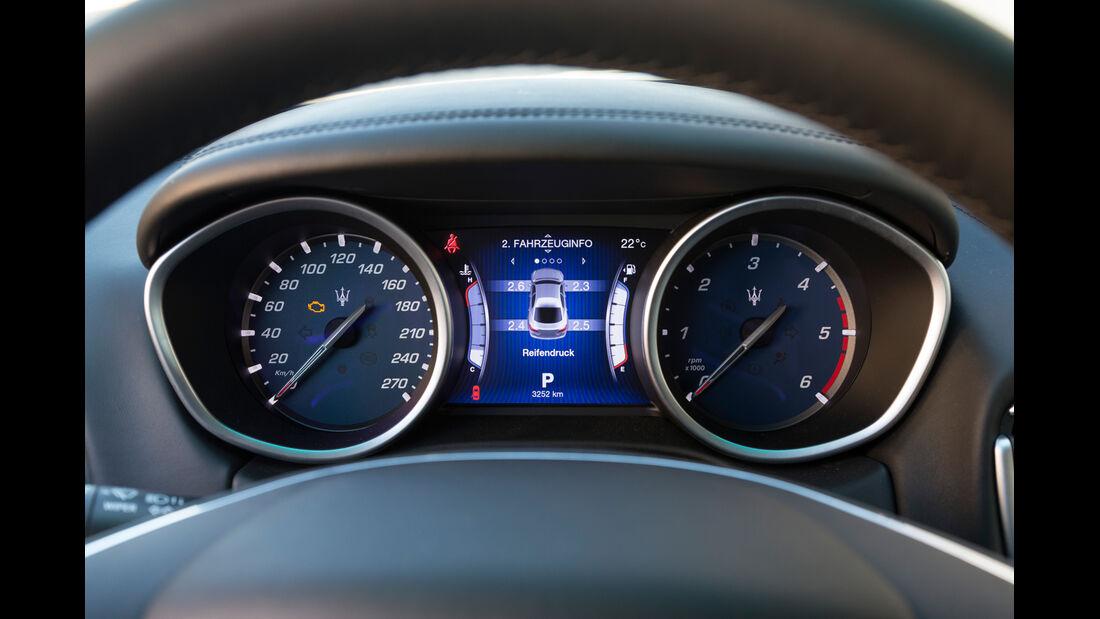 Maserati Ghibli Diesel, Rundinstrumente