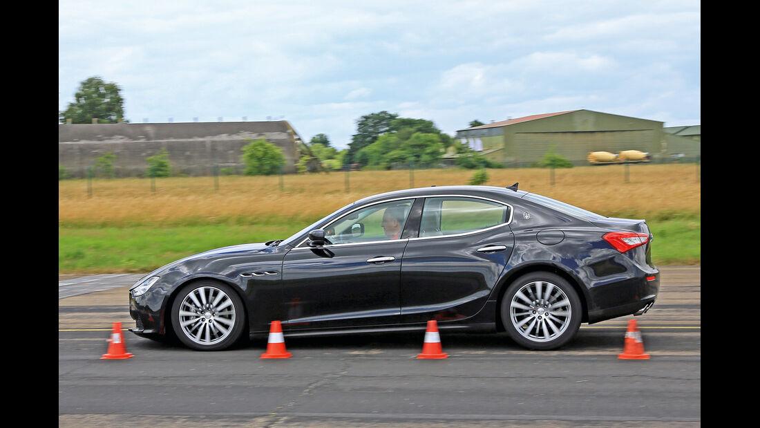 Maserati Ghibli Diesel, Seitenansicht, Bremstest