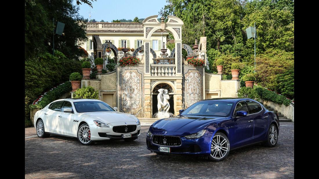 Maserati Ghibli, Maserati Quattroporte, Frontansicht
