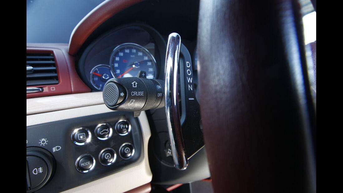 Maserati GranCabrio, Detail, Schaltpaddel, Lenkrad