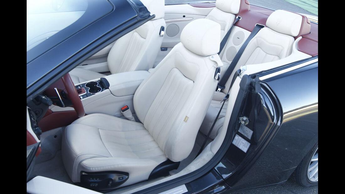 Maserati GranCabrio, Innenraum, Sitze, Ledersitze, weiß