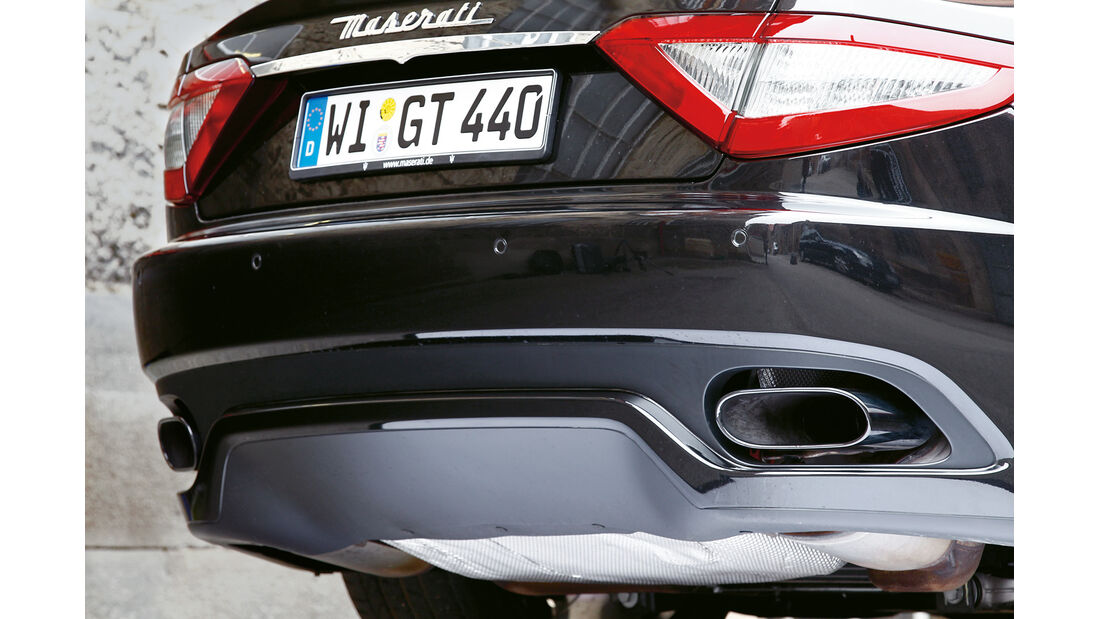 Maserati GranTurismo Sport, Auspuff, Endrohr