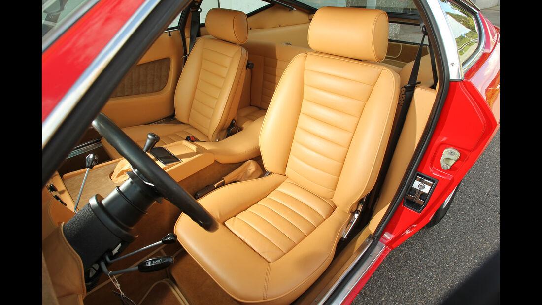 Maserati Khamsin, Fahrersitz, Cockpit